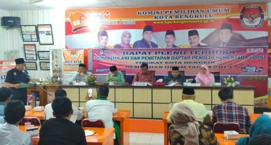 KPU Kota Bengkulu Tetapkan DPS Pemilu 2019