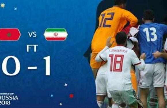 Iran Unggul 1 : 0 Kontra Maroko