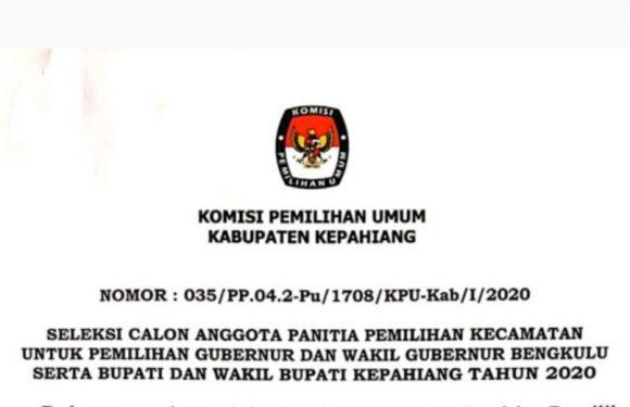 Ini Syarat Seleksi Anggota PPK Kabupaten Kepahiang