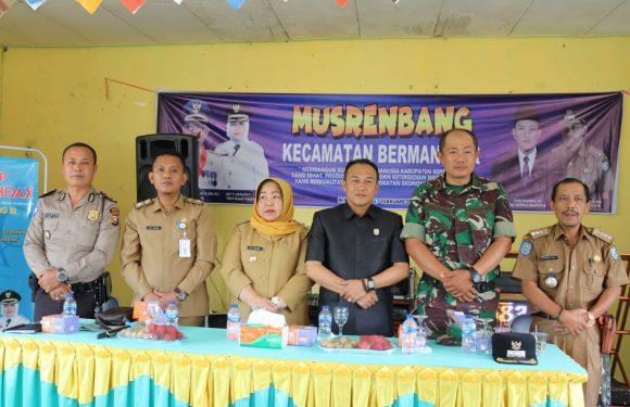 Wabup dan Ketua DPRD Kepahiang Hadiri Musrenbangcam Bermani Ilir