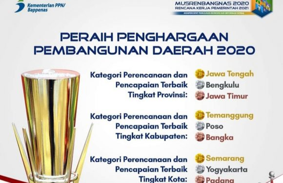 Waka 1 DPRD Kepahiang : Selamat Pak Gubernur atas Penghargaan Pencapaian Terbaik dari Bappenas