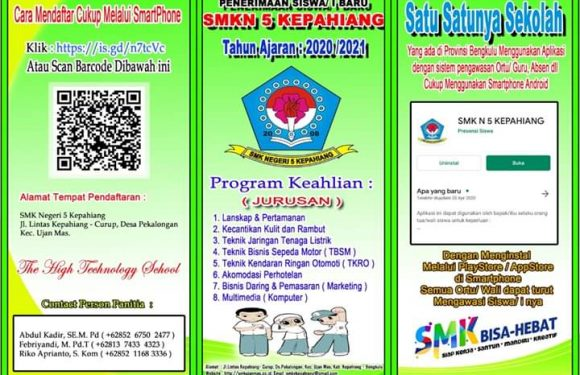 SMKN 5 Kepahiang Beri Siswa dan Wali Murid User Id