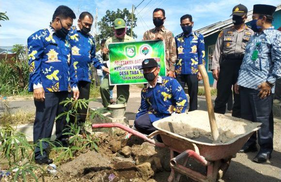 Desa Taba Tebelet Laksanakan PKT dan Titik Nol Secara Transparan