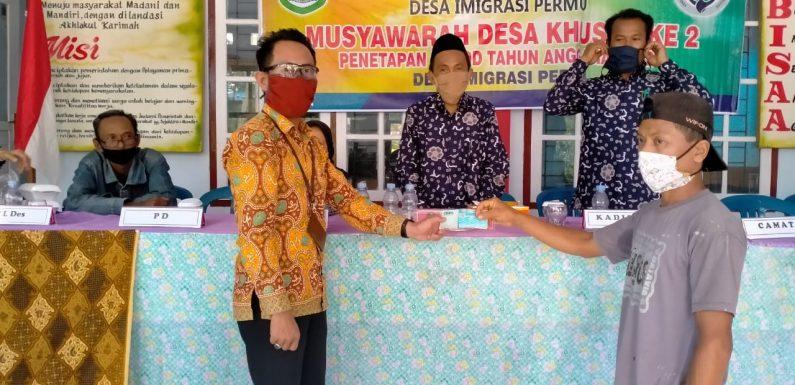 Desa Imigrasi Permu Bagi BLT DD Tahap III
