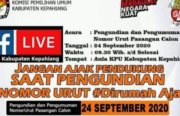 KPU : Jangan Ajak Pendukung Saat Pengundian Nomor Urut
