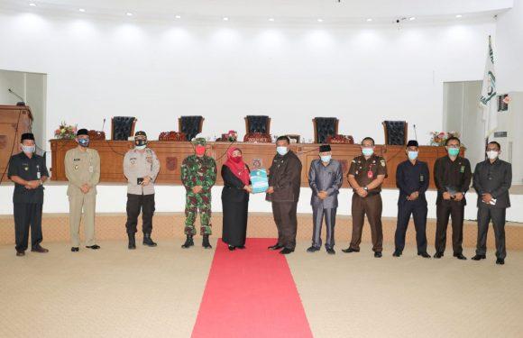 DPRD Kabupaten Kepahiang Gelar Rapat Paripurna Penyampaian Hasil Evaluasi Gubernur Bengkulu Atas Raperda Perubahan APBD Tahun Anggaran 2020